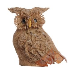 A&B Home Holiday Burlap Owl - Set Of 2.