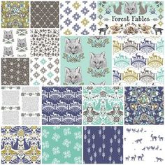 Forest Fables Fat Quarter Bundle in Glade