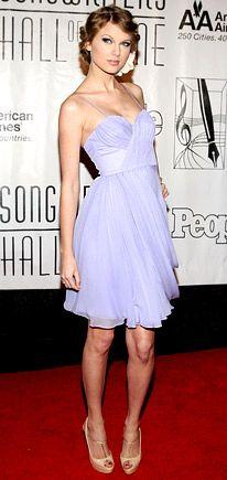 beauty in a lilac J. Mendel dress