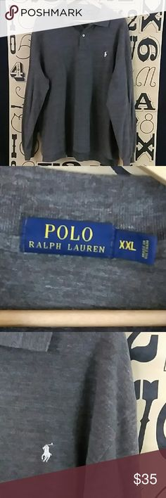Polo Ralph Lauren long sleeve Polo Gently used Polo Ralph Lauren long sleeve Polo size XXL. Ralph Lauren Blue Label Shirts Polos