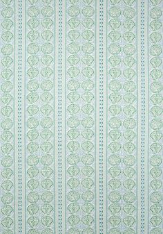 FAIR ISLE, Green and Blue, F988732, Collection Trade Routes from Thibaut