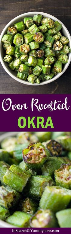 Roasted okra is a healthy snack that's easy to make. These are so good, you might eat them straight off the pan!