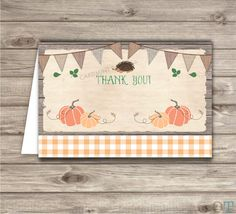 Pumpkin Thank You Cards Stationery