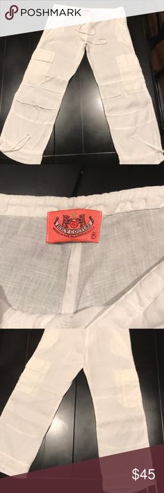 Juicy Couture linen pants Brand new, never worn, Juicy linen crop pants. Juicy Couture Pants Capris
