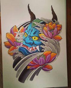 Finally finished. #hannyamask #hannya #lotusflower #drawing #design #originaldesign #oriental #orientaldesign #tattooflash #tattooing #tattoos #tattoo #tattoostyle #tattooinspiration #tattooartist #tattooart #tattoodesign #japanesetattoo #japan #japanese #japanesetradition #sunskintattoomachines #promarkers #tattoostudio #thanksforlooking
