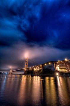 Love this shot of the Golden Gate Bridge! ~ via San Francisco Expression