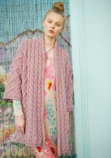 Jacke in Altrosa gestrickt mi tggh-Garn CAMELLO, Garnpaket zu Modell 11 aus Rebecca Nr. 56 #rosa #stricken