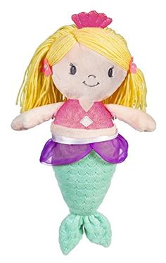 Your little one will love cuddling with this plush doll. Full of soft splendor, the adorable mermaid doll has blonde hair, a pink outfit and a turquoise tail. The irresistible doll will be a hit with babies and toddlers alike. Mermaid Gifts, Mermaid Dolls, Plush Dolls, Cuddling, Smurfs, Boutique, Pink, Baby, Physical Intimacy