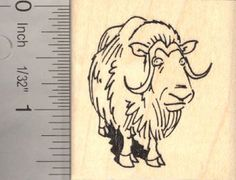 Muskox Musk Ox Rubber Stamp ** Find out more about the great product at the image link.