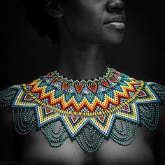 Beautiful African Women, Beautiful Black Women, African Beauty, African Necklace, African Jewelry, African Attire, African Wear, African Tribal Girls, Zulu Women