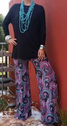 Paisley Crush Palazzo Pants - Also in Plus Size