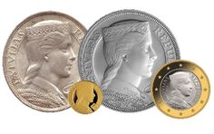 "Third rebirth of Latvian folk-maiden ""Milda"" on Latvian coins. From original 5 Lats siver coin to Latvian 1 and 2 euro coins national sides."