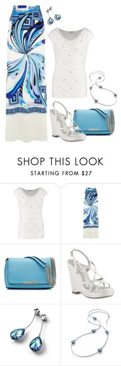 """Blue #3"" by mwaldhaus ❤ liked on Polyvore featuring Anna Field, Emilio Pucci, Dyeables and Baccarat"