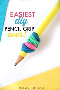 Make a DIY Pencil Gripper with balloons to encourage a tripod grasp and proprioceptive input during handwriting. Handwriting for kids teaching. Teaching Handwriting, Handwriting Activities, Improve Your Handwriting, Cursive Handwriting, Handwriting Practice, Fine Motor Activities For Kids, Motor Skills Activities, Fine Motor Skills, Pre Writing