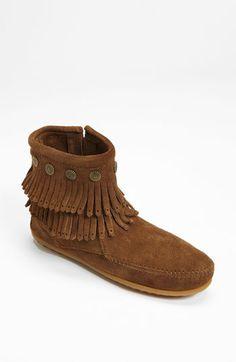 1572a1da134 Minnetonka  Double Fringe  Boot Fringe Fashion