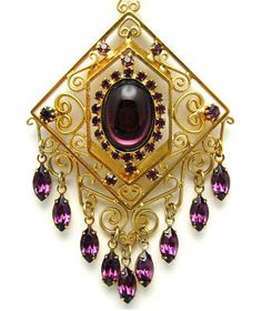 Purple Necklace Dangling