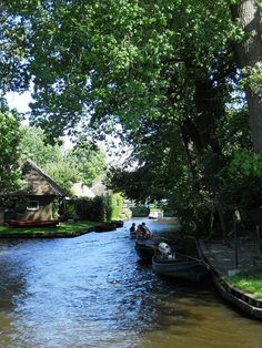 Giethoorn, Holland. What forms of transportation have you used before? How do you think those who live in this town get around? How would your life be different if there were no cars?