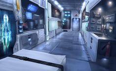 Cyberpunk, Sci-Fi, Medical Vehicle by AdamPaquette