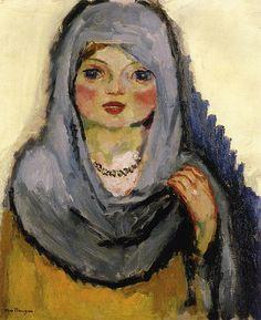 Dongen, Kees van - Girl with grey shawl - 1907