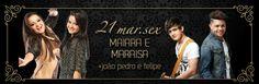 Maiara e Maraisa + João Pedro e Felipe Data: 21/03/2014 Horário: 23h Local: Woods Bar http://www.oigoiania.com.br