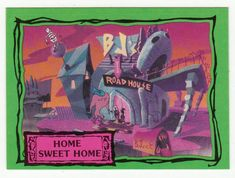 Beetlejuice Animated # 11 Home Sweet Home - Dart Cards 1990