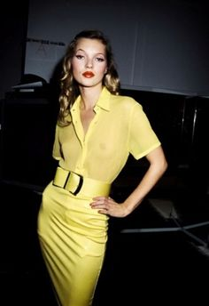 Kate Moss in yellow