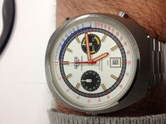 Heuer Montreal White dial 1972