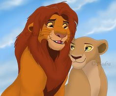 King Simba and Queen Nala by HydraCarina on DeviantArt The Lion King 1994, Lion King 2, Lion King Movie, King Simba, Lion King Story, Lion King Fan Art, Lion Art, Simba Rey Leon, Simba And Nala