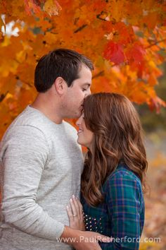 Northern Michigan Fall Color Wedding Engagement Photography | Anna & Andy photo
