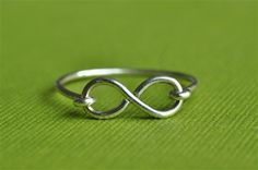 custom INFINITY Ring in your size and choice of metal (sterling, yellow gold filled or rose gold filled) - from muyinjewelry.com