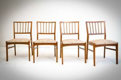Teak Dining Chairs $475 - Chicago http://furnishly.com/catalog/product/view/id/1753/s/teak-dining-chairs/