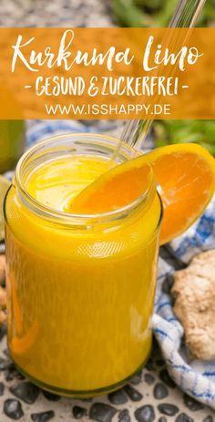 Limonade selber machen - mit Ingwer und Kurkuma. Gesund, zuckerfrei und nährstoffreich – schnell und einfach mit nur wenigen Zutaten! #limoselbermachen #zuckerfreielimo #limozuckerfrei #kurkumalimo #gesundelimo #limonade #gesunderezepte#gesundeernährung Entdeckt von Vegalife Rocks: www.vegaliferocks.de✨ I Vleischlos glücklich, fit & Gesund✨ I Follow me for more inspiration @vegaliferocks #vegan #veganleben #veganessen