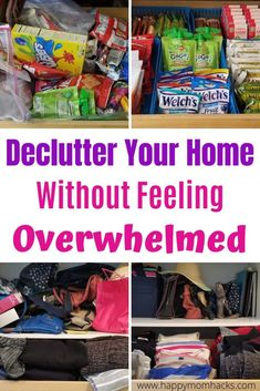 How to Declutter Your Home and Not Feel Overwhelmed. A step by step guide to organizing the whole house room by room. Make it a stress free task with this easy guide.