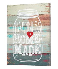 Look at this 'Happiness is Homemade' Canvas on #zulily today!