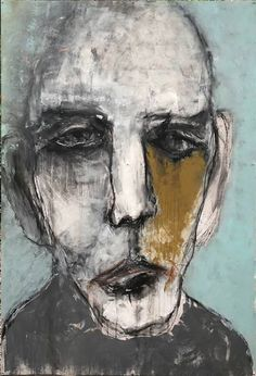 abstract portrait Original Abstract Painting by Kris Gebhardt Abstract Portrait Painting, Portrait Art, Figure Painting, Long Painting, Portrait Paintings, Abstract Faces, Abstract Art, Sad Paintings, Abstract Paintings