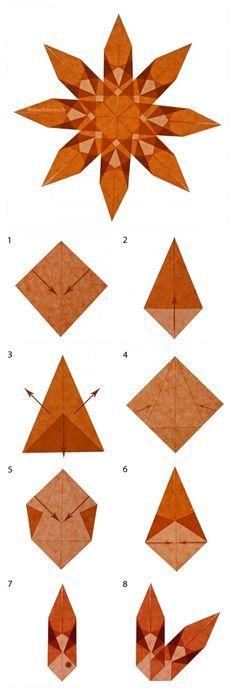 Beautiful origami stars, www.ch Beautiful origami stars, www. Origami Diy, Origami Simple, Origami Tutorial, Origami Paper, Kirigami, Origami Butterfly, Origami Stars, Simple Christmas, Christmas Crafts