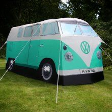 I love this just wished I loved camping as much :)  -  Green VW Camper Van Tent