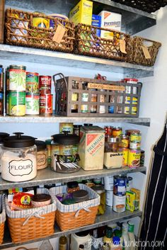 Pantry Organization - Using Vintage Containers to clean up your pantry.