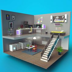 Bedroom Setup, House Games, Gaming Room Setup, Video Game Rooms, Game Room Design, Flat Interior, Gamer Room, Game Room Decor, Tiny Apartments