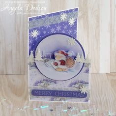 Christmas Santa Bear Card – Dovecraft Christmas Decoupage Pad and First Edition Dies by design team member Angela