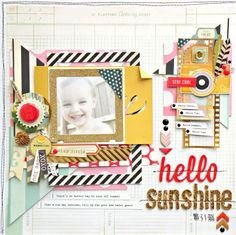 Crate Paper-Hello Sunshine Layout