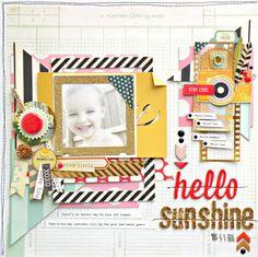 My Bits of Sunshine: Crate Paper-Hello Sunshine Layout