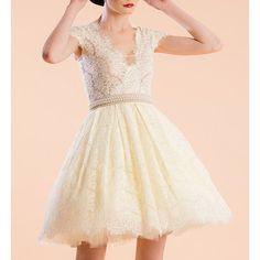$21.19 Sweet V-Neeck Short Sleeve Beading Ball Gown Dress For Women