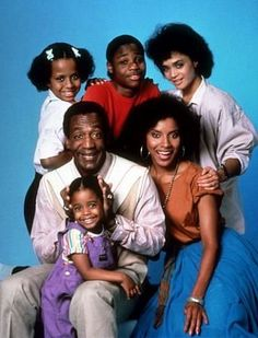 The Cosby Show  Starring: Bill Cosby (Dad - Dr, Hethcliff ('Cliff') Huxtable), Phylicia Rashad (Mom - Clair), Sabrina Le Beauf (Sandra), Malcolm Jamel Warner (Theodore 'Theo'), Keisha Knight Pulliam (Rudy), Tempestt Bledsoe (Vanessa), Lisa Bonet (Denise)    We only liked the first few years...
