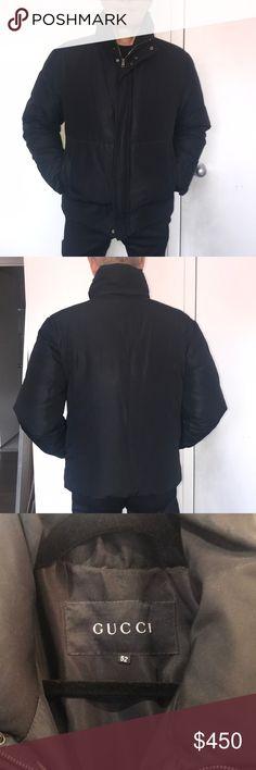 6dbb812429d Gucci Ski Jacket. Black Performance Nylon. Very warm. Marked size 52