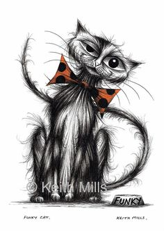 Funky cat Print download by KeithMills on Etsy, £3.00