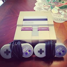 Super Nintendo! We used to play Donkey Kong for hours!