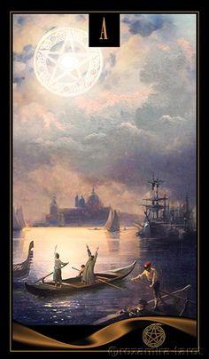 Venetian tarot ace of pentacles Ace Of Pentacles, Tarot Decks, Crystal Ball, Tarot Cards, Magick, Album, Pictures, Painting, Palmistry