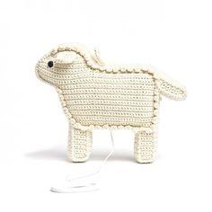 Mouton musical en crochet pour bébé / éveil par Anne-Claire Petit www.little-home.fr
