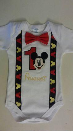Camiseta de cumpleaños de Mickey Mouse por JensBrooklynBowtique